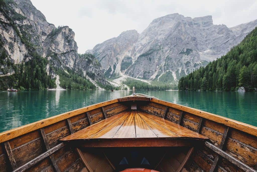 anticipating the New Year: boat on water